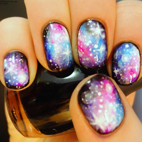 Galaxy Star Nails.