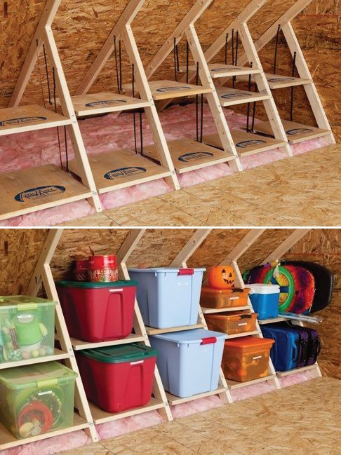 Charmant Clever Attic Storage