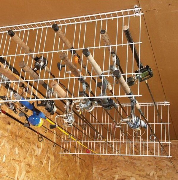 Garage Ceiling Wire Shelves.