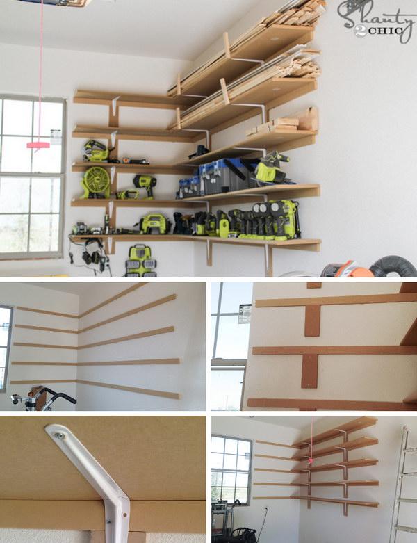 Super Easy DIY Garage Shelves.