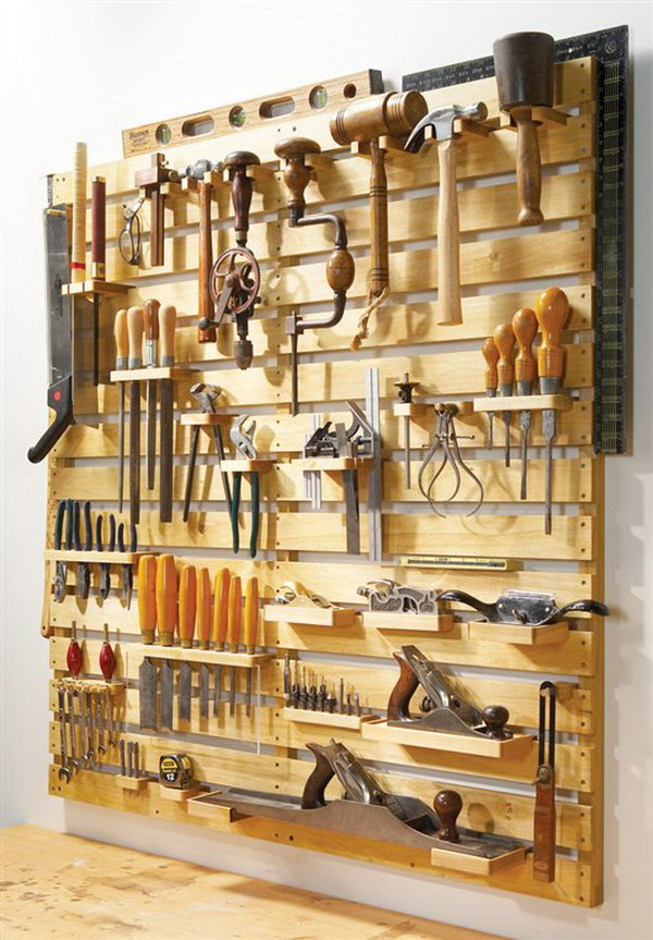 Hold-Everything Tool Rack.