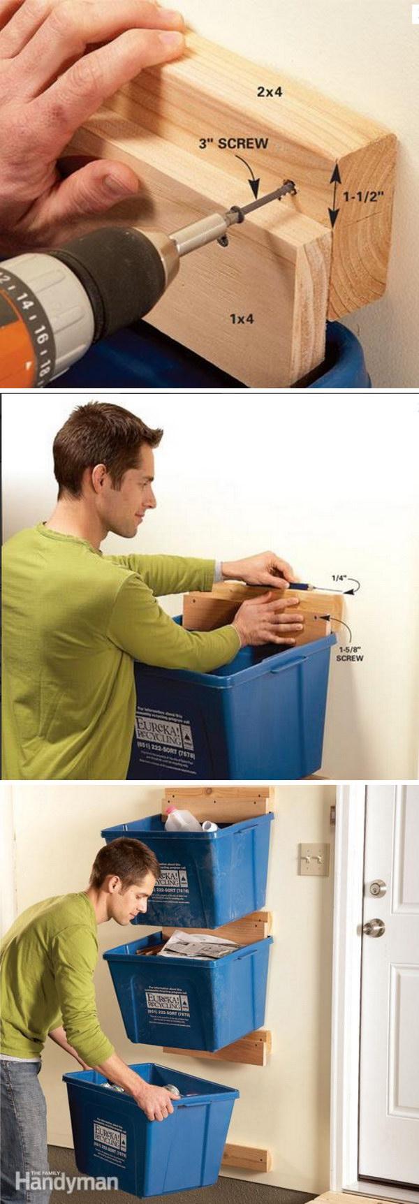 Recyclded Bin Hangers.
