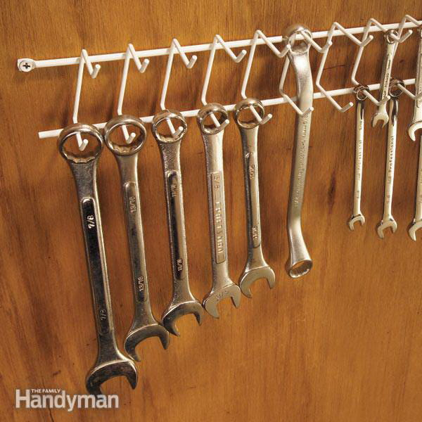 Wrenches Storage With Tie Rack.