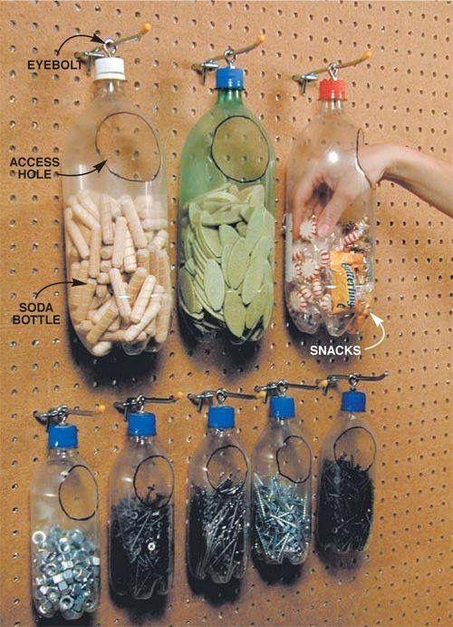 Easy DIY Plastic Nail Holders.