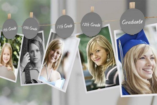 Display A Photo From Every School Year Of The Graduate