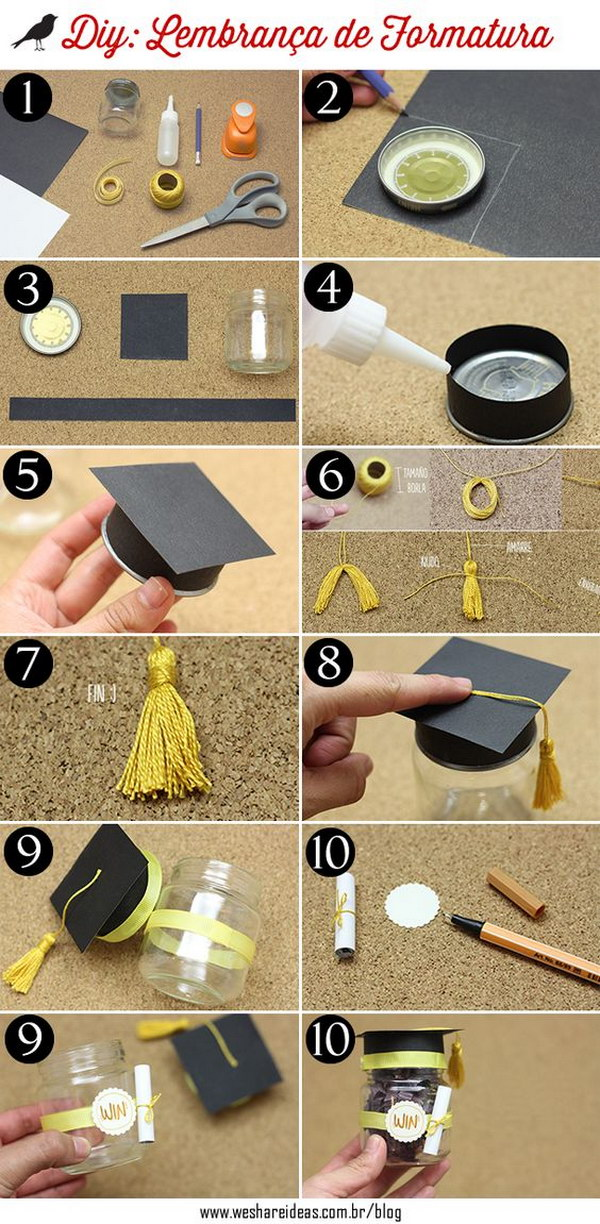 Graduation Hat Party Favor Boxes.