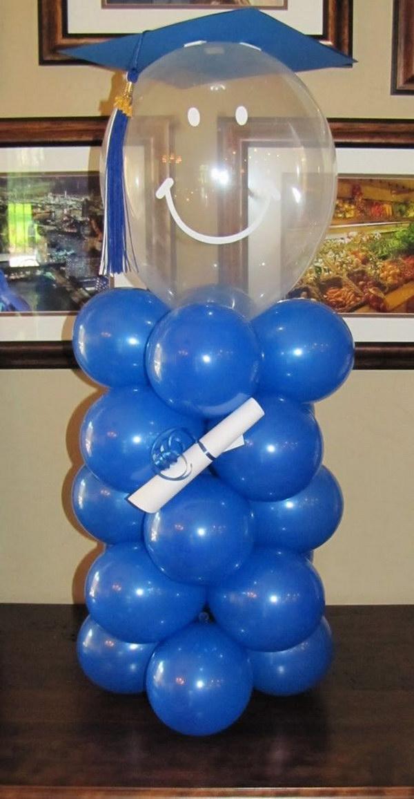 Graduation Person Balloon Decor