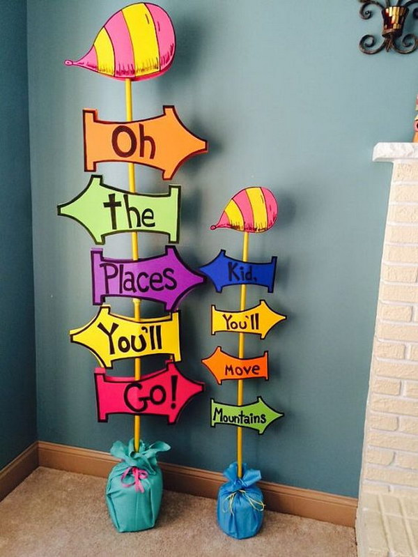 Oh The Places You'll Go Sign.