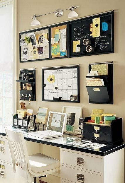 Use Wall Mounted Calendar Board And Mail Organizer For The Area