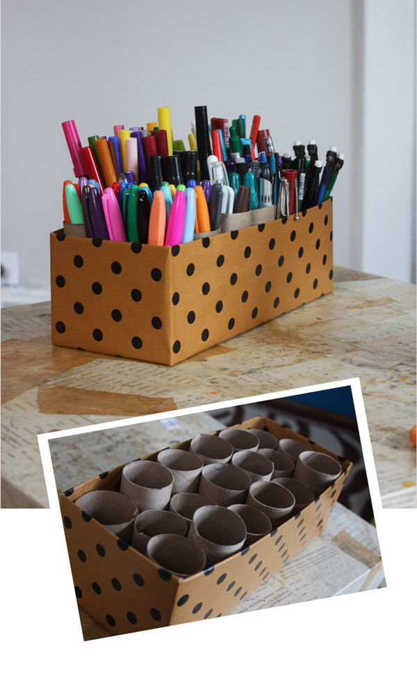 Creative Pens Organization Ideas.