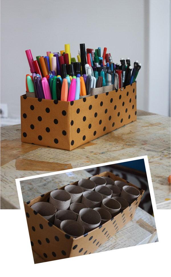 Creative Pens Organization Ideas.