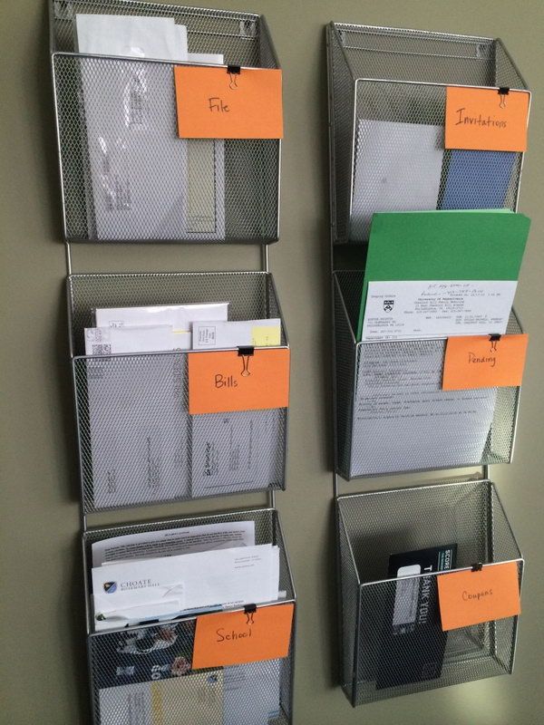 Simple Wall-Based Filing System.
