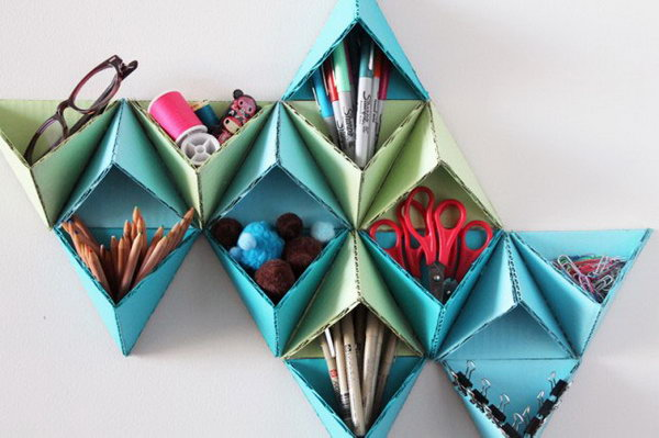 Triangular Wall Storage System.