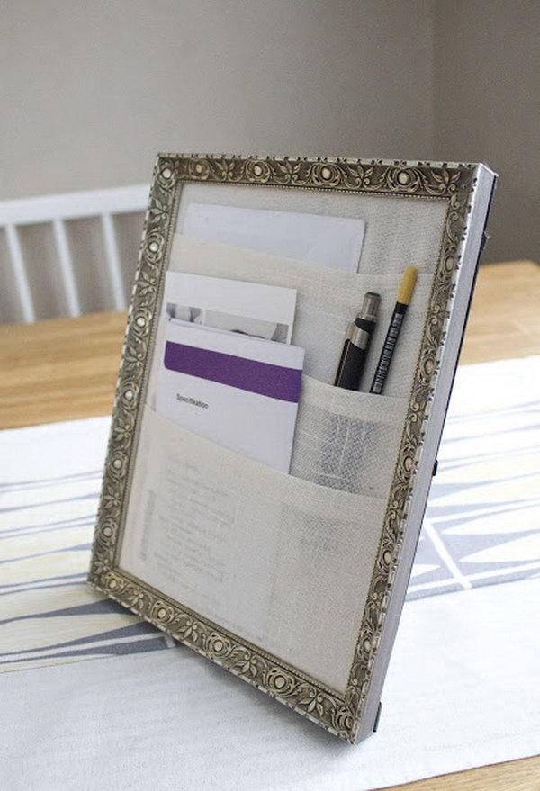 Framed Table Organizer.