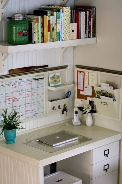 Keep Organized In a Small Corner Area.