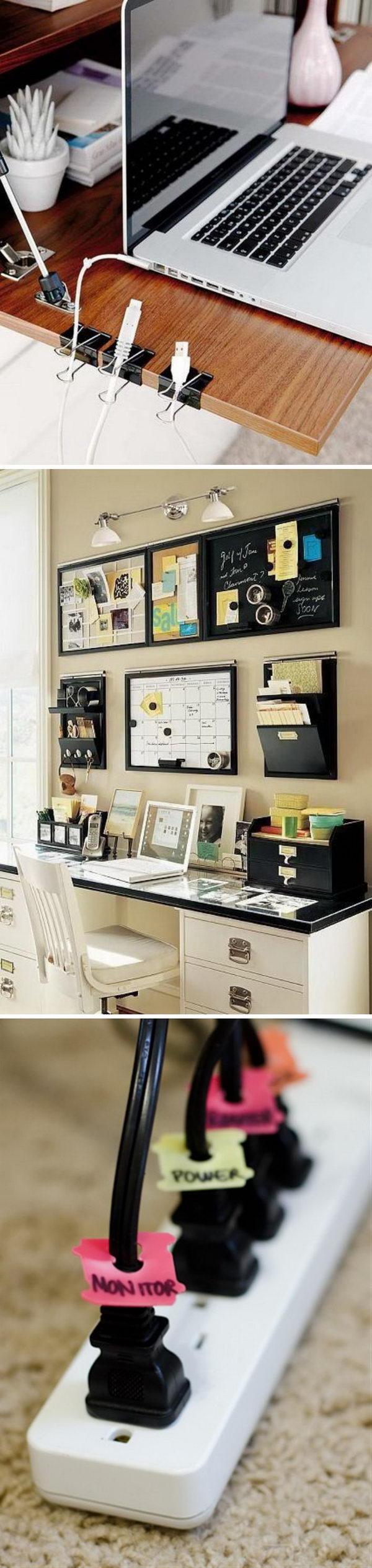 Effective Home Office Organization Ideas.