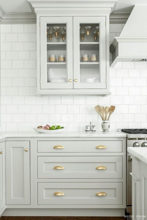 Gorgeous Pastel Gray Kitchen Cabinets