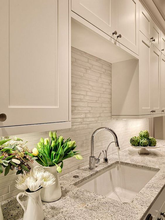 Cloud White Kitchen Cabinets.