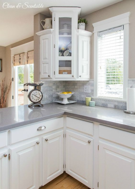 Gorgeous Low Budget White Kitchen Makeover.