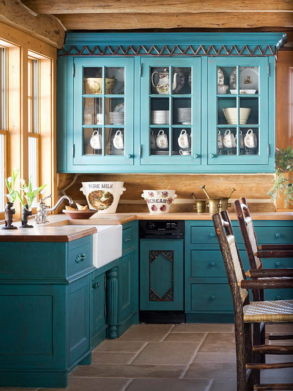 80 Amazing Kitchen Cabinet Paint Color Ideas 2018