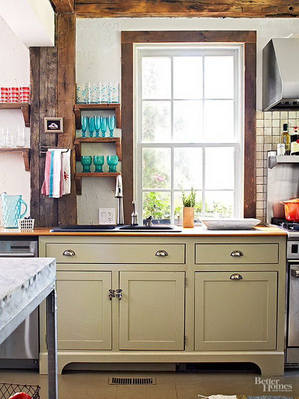 Kitchen Wall Color Pairs With Sage Green