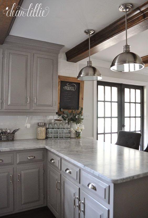 Amazing Kitchen Cabinet Paint Color Ideas - Gray kitchen cabinet paint color