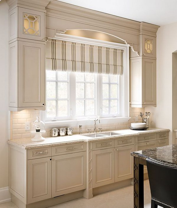 Paint Color for Greige Kitchen Cabinet.