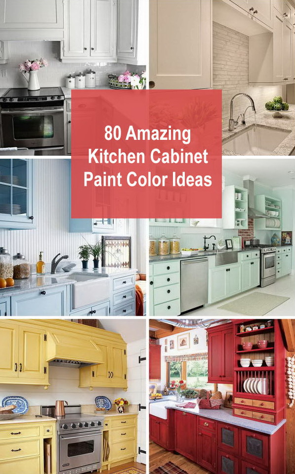 80 Amazing Kitchen Cabinet Paint Color Ideas.