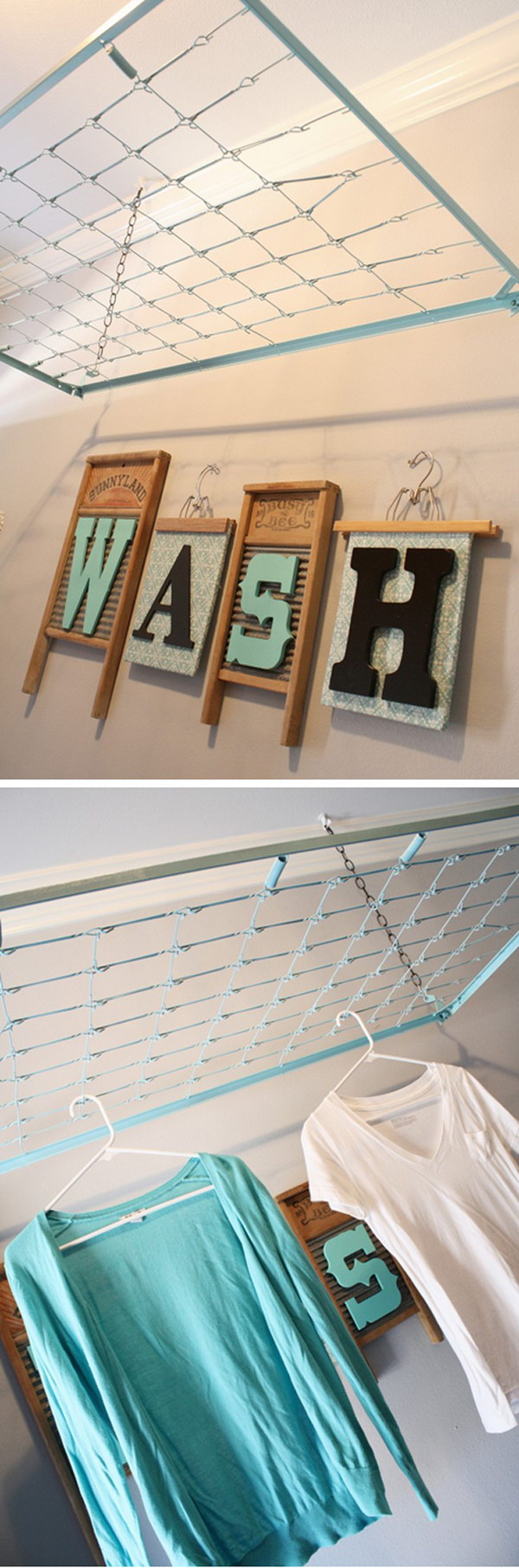 Repurpose A Crib Spring As A Drying Rack.
