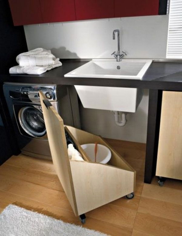 Under the Sink Storage in Laundry Room.