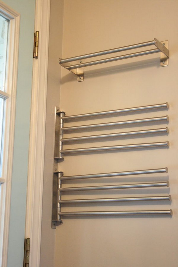 IKEA Towel Bars For Drying Clothes.