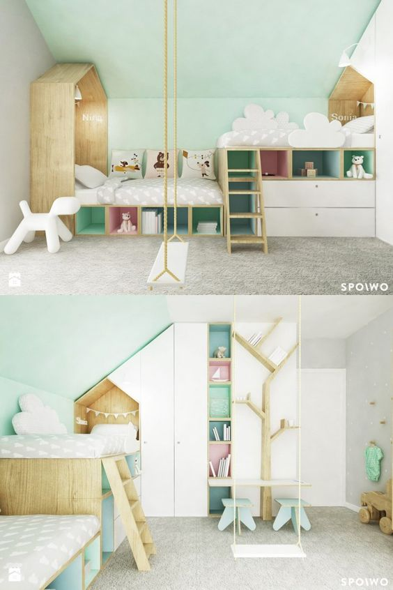 Cute Loft Bed For Kids.