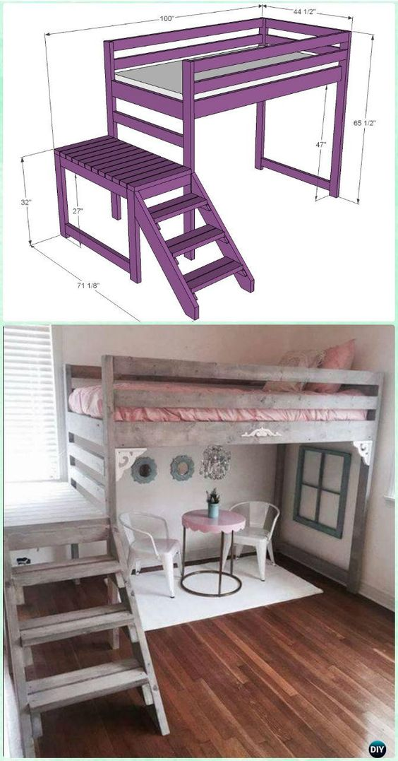 Loft Bed with Stairs.