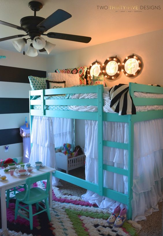 Library Room Ideas: 35 Cool Loft Beds For Small Rooms 2018