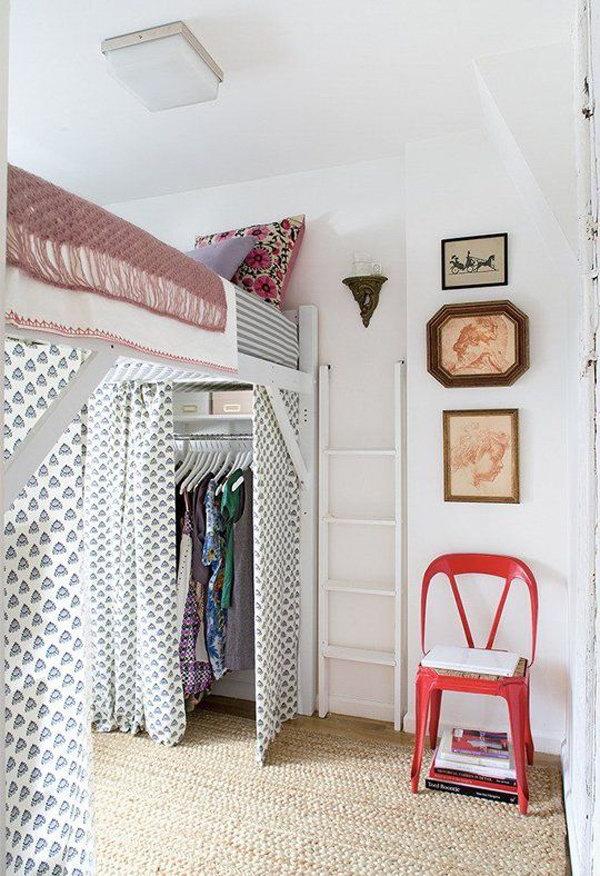 Loft Bed With Closet Design