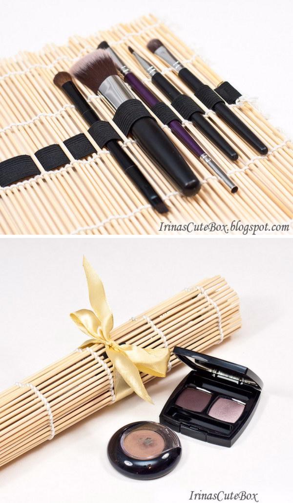 DIY Makeup Brush Organizer.