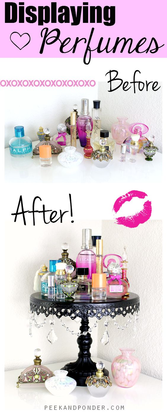 DIY Perfume Stand