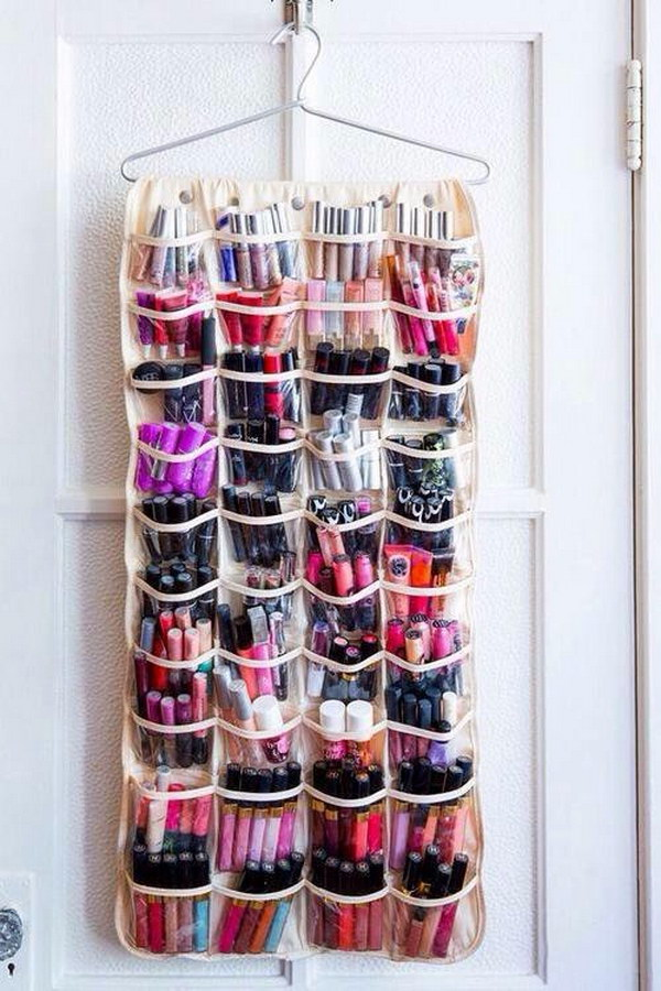 Make Up Storgae Using Shoe Organizer