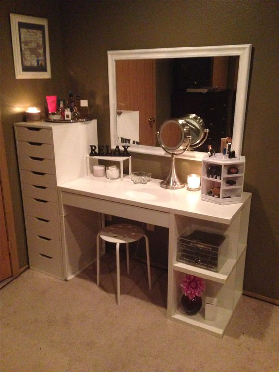 Create Your Makeup Space With Dresser Unit From IKEA.