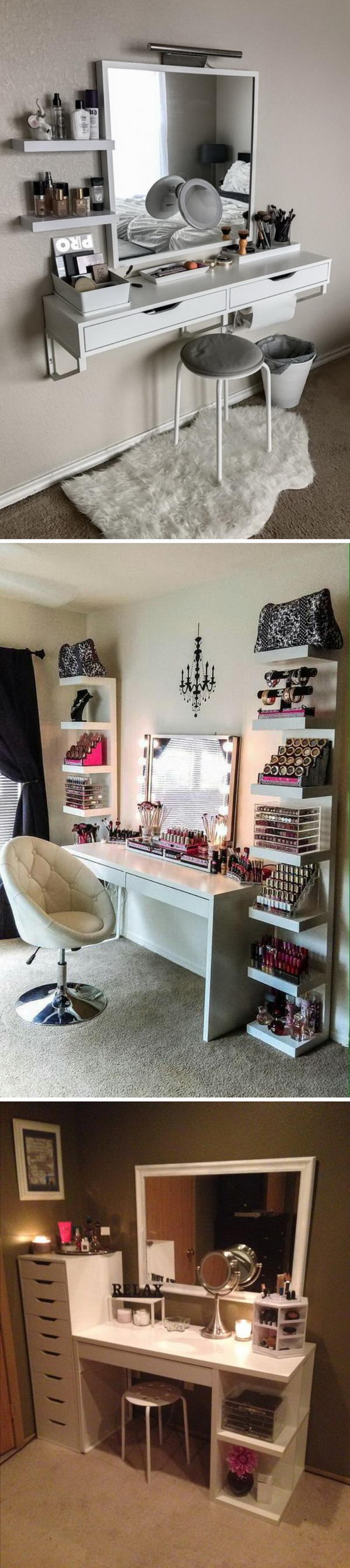 40 Awesome Makeup Storage Designs and DIY Ideas For Girls.