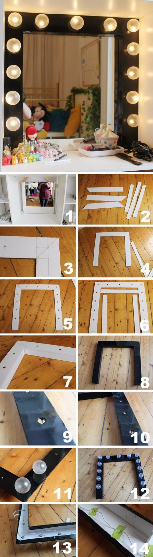DIY Dressing Room Mirror