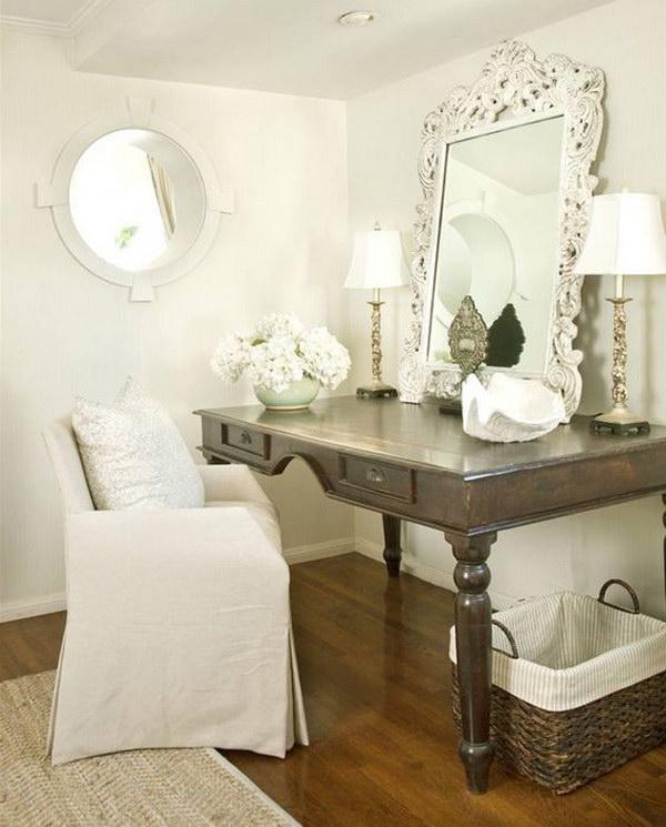 White Rococo Mirror