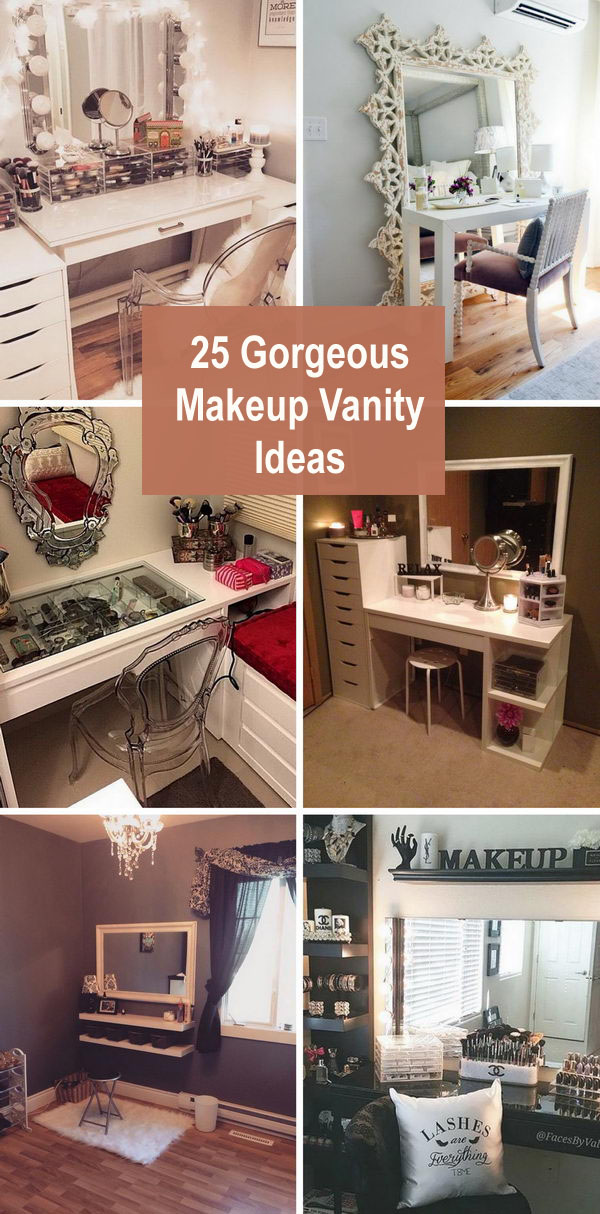 25 Gorgeous Makeup Vanity Ideas 2018