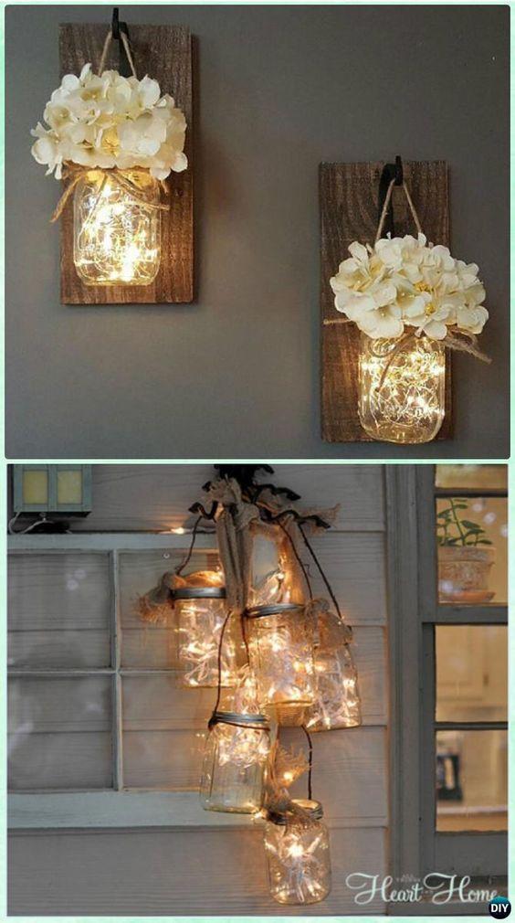 Hanging Mason Jar String Lights