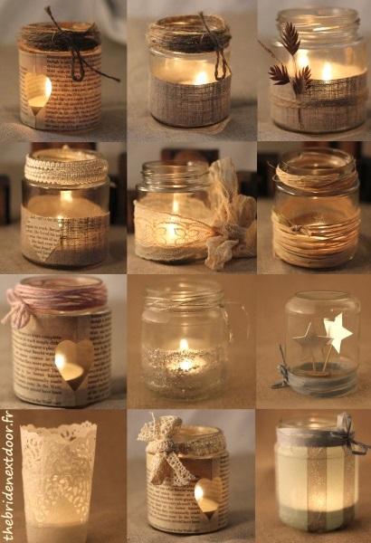 Rustic Christmas Mason Jar.