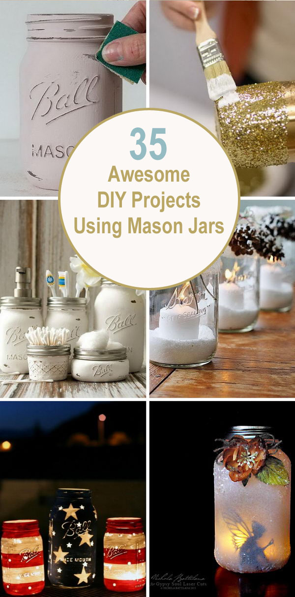 Awesome DIY Projects Using Mason Jars.