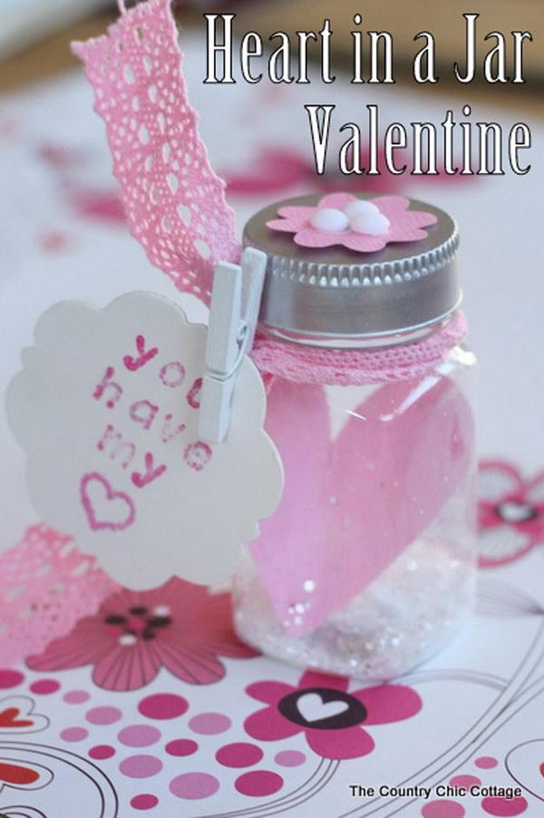 Heart in a Jar Valentine