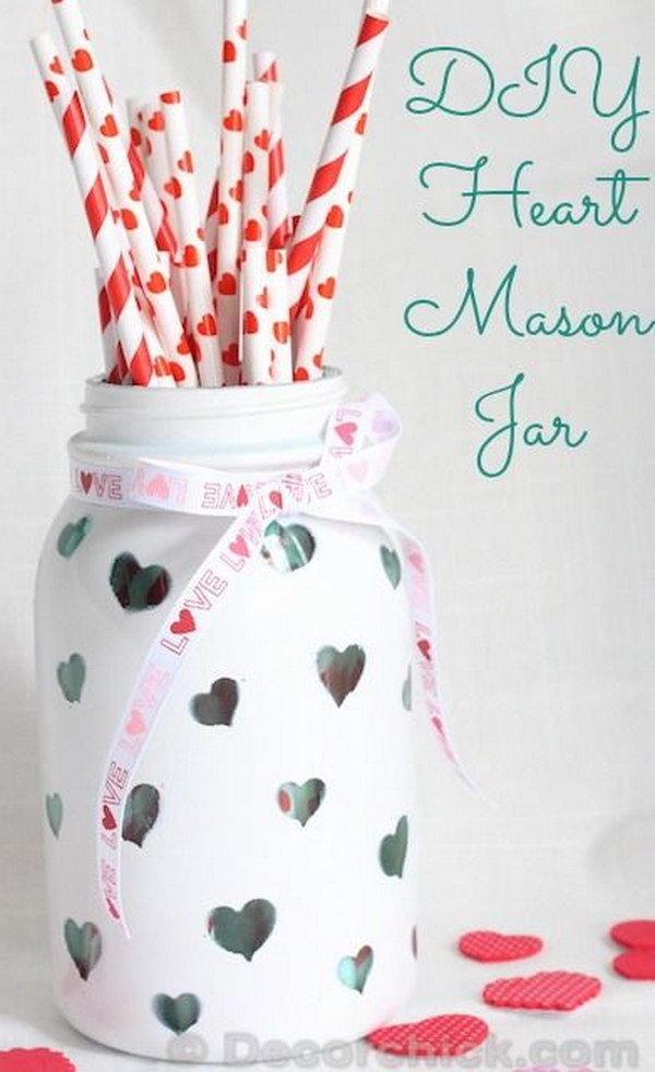 DIY Heart Mason Jar
