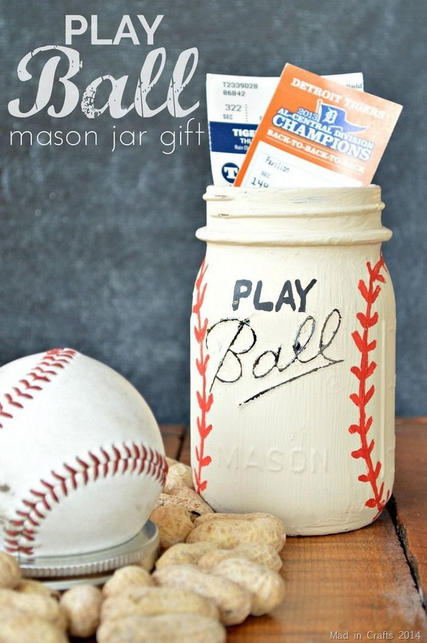 Baseball Themed Gift in a Jar for Him