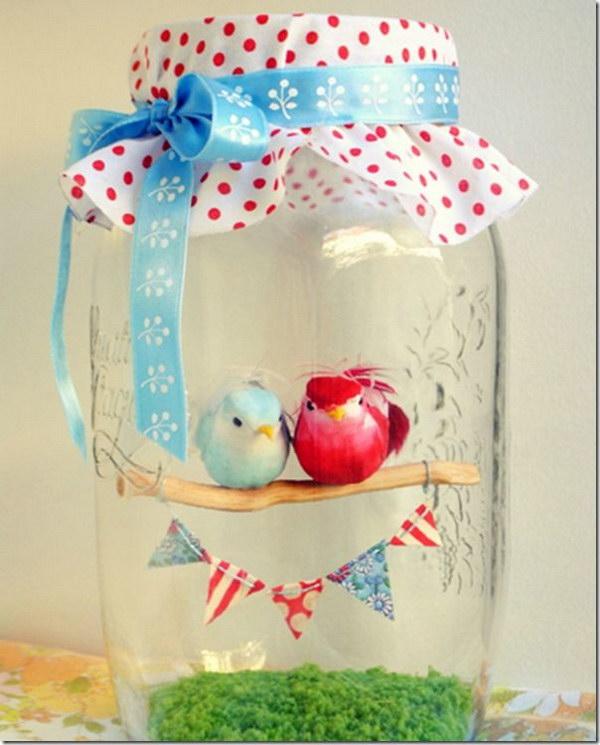 Love Birds in a Jar